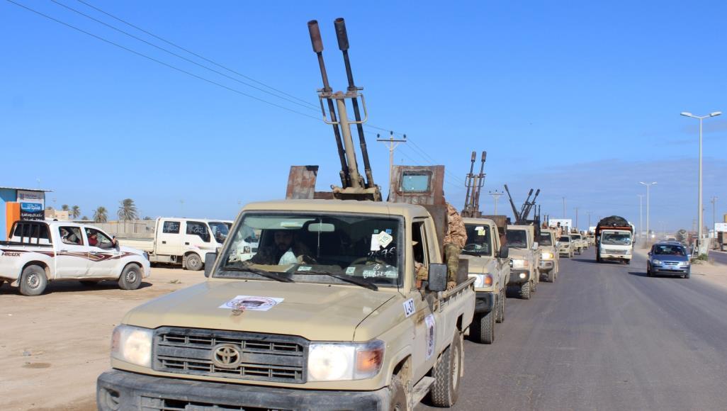 قوات موالية لحكومة الوفاق الليبية في مدينة مصراتة (رويترز-أرشيف)