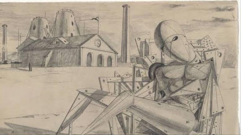 لوحة العزلة للفنان جورجيو دي كيريكو(مواقع التواصل)