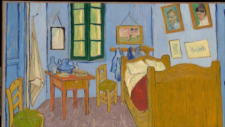 """لوحة """"غرفة نوم في آرل"""" للفنان فنسنت فان غوخ(مواقع التواصل)"""