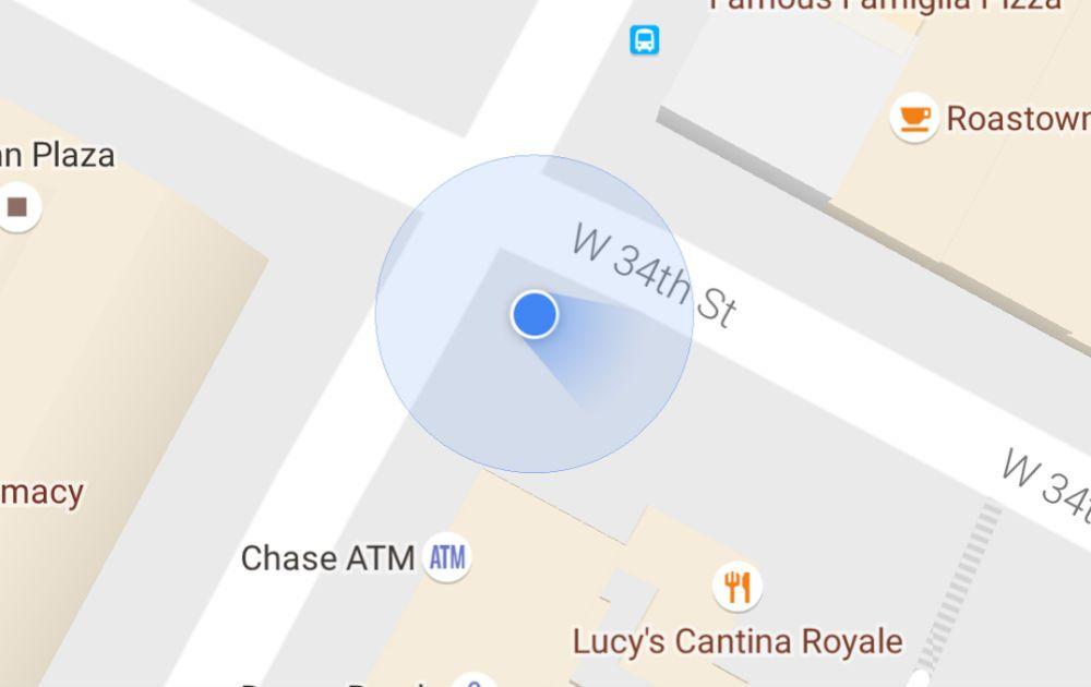 Google Maps position
