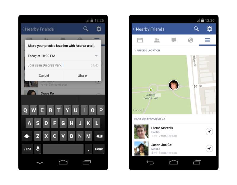 facebook maps position