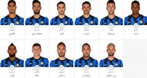 صورة اسماء لاعبين انتر ميلان عام 2021 مع الارقام